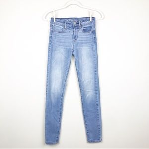 American Eagle High Rise Jeggings Size 0R